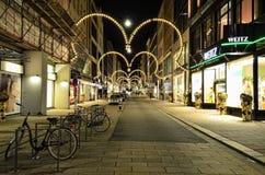 Lyxig modediversehandel i den Hamburg staden Arkivfoto
