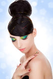 lyxig model kvinna Royaltyfri Foto