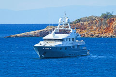 Lyxig motor-yacht Royaltyfria Bilder