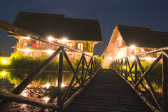 lyxig nattsemesterort Royaltyfri Fotografi