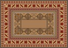 Lyxig orientalisk filt med den original- modellen vektor illustrationer