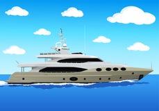 Lyxig privat yacht Arkivbild