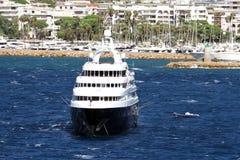 Lyxig privat yacht Arkivbilder