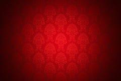 lyxig röd retro wallpaper vektor illustrationer