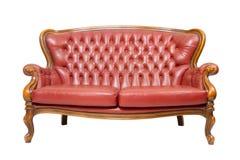 lyxig röd sofatappning Royaltyfria Foton