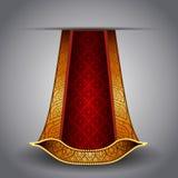 lyxig röd kunglig vektor för tygguld Arkivfoton