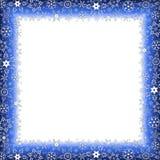 Lyxig ram för vinter med snöflingor Royaltyfria Foton