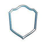 Lyxig ram med den tomt kopia-utrymme, vektorsäkerhetsskölden eller sh royaltyfri illustrationer
