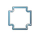 Lyxig ram med tomt kopia-utrymme, vektorillustration vektor illustrationer