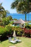 lyxig rekreationvilla för område Royaltyfria Bilder