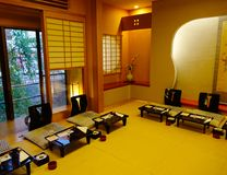 Lyxig restaurang i Akita, Japan Royaltyfri Foto