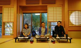 Lyxig restaurang i Akita, Japan Royaltyfria Foton