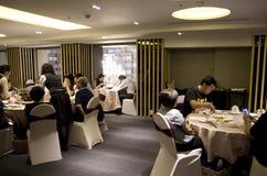 Lyxig restaurang i Taipei Taiwan royaltyfria bilder