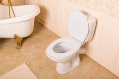 Lyxig sanitär utrustning med guld- beståndsdelar Royaltyfri Foto