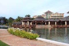 lyxig semesterort för hotell Royaltyfri Foto