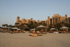 lyxig semesterort för strand Royaltyfria Bilder