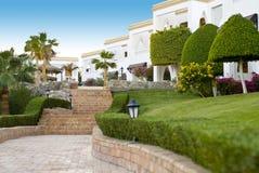 lyxig semesterort för hotell Royaltyfria Bilder