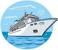 lyxig ship för kryssning royaltyfri illustrationer