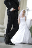 lyxig smoking för brudgum Royaltyfri Bild