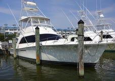 Lyxig sportfiskebåt Fotografering för Bildbyråer
