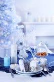 lyxig ställeinställning för jul arkivfoto
