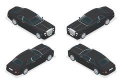 Lyxig storgubbebil Isometrisk vektor som föreställer en lyxigt flotta eller trans. för bilhyra vektor illustrationer