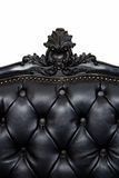 Lyxig svart lädersofa Royaltyfria Foton