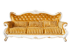 Lyxig tappning Sofa On White Background royaltyfri foto