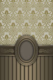 Lyxig tappningbakgrund med den dekorativa ramen Royaltyfria Foton