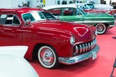 Lyxig tappningbil på carshow Royaltyfri Fotografi