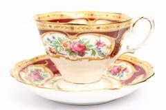 lyxig tea för kopp Arkivbilder