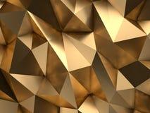 Lyxig tolkning för bakgrund 3D för storgubbeguldabstrakt begrepp Arkivbilder