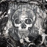 Lyxig torkduk för svart bakgrund eller krabba veck av siden- textursatäng för grunge Arkivfoto
