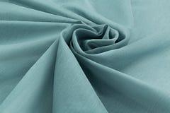 Lyxig torkduk för turkosbakgrund eller krabba veck av siden- textursatäng för grunge Arkivfoto