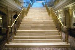 lyxig trappuppgång Arkivfoto