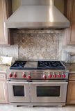 lyxig ugnsranfe för kök arkivfoto