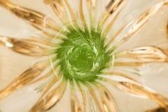 Lyxig vas av bohemiskt exponeringsglas brun green Arkivbilder