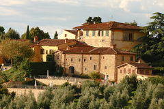 Lyxig villa i Chianti, Tuscany, Italien Arkivfoton
