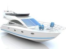 lyxig vit yacht vektor illustrationer