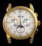 lyxig watch för guld royaltyfri foto