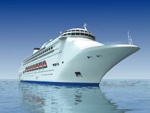 lyxig yacht stock illustrationer