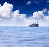 lyxig yacht Arkivfoto