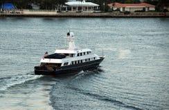 lyxig yacht Arkivfoton