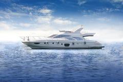 Lyxig yacht royaltyfri illustrationer