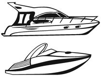 Lyxig yacht stock illustrationer