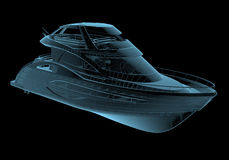 Lyxig yacht vektor illustrationer