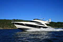 lyxig yacht Arkivbilder