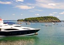 lyxig yacht för bow Royaltyfri Fotografi