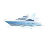 Lyxig yacht för vektorhastighet stock illustrationer