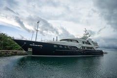 Lyxig yacht i Panama Royaltyfria Foton
